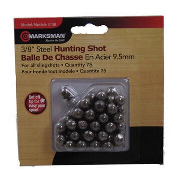 Marksman 3/8 Steel Shot Slingshot Hunting Ammo (75)