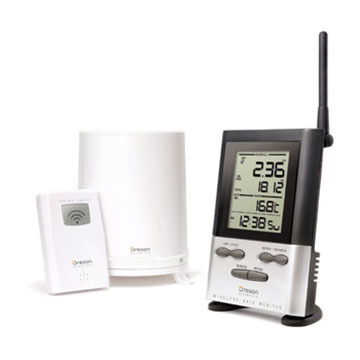 Oregon Scientific Wireless Rain Gauge w/ 10 Day Memory & Outdoor Thermometer