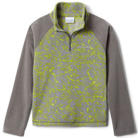 Columbia Boy's Glacial III Printed Fleece Quarter-Zip Long-Sleeve Pullover Top