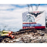 Team Never Quit 45 Auto 155 Grain Frangible HP Reduced Ricochet Handgun Ammo (20)