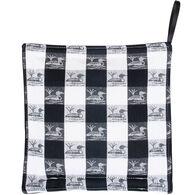 Maine Balsam Fir Black & White Check Loons Trivet
