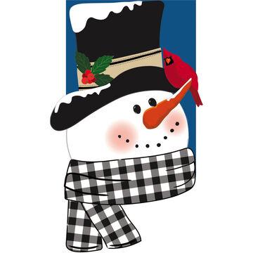 Evergreen Snowman and Friend Applique Garden Flag
