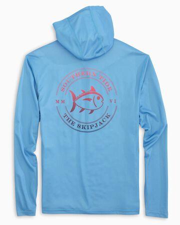 Southern Tide Mens Ombre Skipjack Performance Long-Sleeve Hoodie Shirt