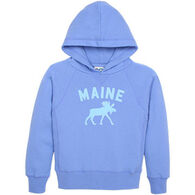 Lakeshirts Girls' Blue 84 Maine Moose Sweatshirt