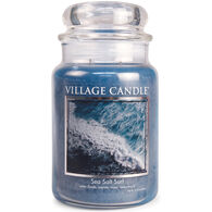 Village Candle Large Glass Jar Candle - Sea Salt Surf