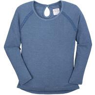 Pacific Teaze Women's Nina Capri Henley Long-Sleeve Shirt