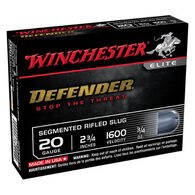 "Winchester Defender 20 GA 2-3/4"" 3/4 oz. Segmenting Rifled Slug Ammo (5)"