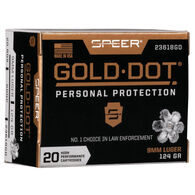 Speer Gold Dot Personal Protection 9mm Luger 124 Grain HP Handgun Ammo (20)
