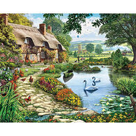 White Mountain Jigsaw Puzzle - Lakeside Cottage