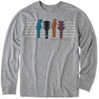 Life is Good Men's Diversified Portfolio Guitar Stripes Crusher-Lite Short-Sleeve T-Shirt