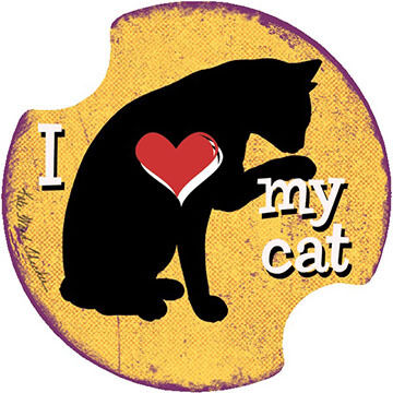 Thirstystone I Love My Cat Carster Coaster Set, 2-Piece