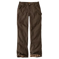Carhartt Women's Relaxed-Fit Canvas Flannel-Lined Fulton Pant
