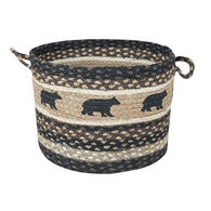 Capitol Earth Cabin Bear Braided Utility Basket