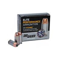 SIG Sauer Elite Performance V-Crown 38 Super +P 125 Grain JHP Pistol Ammo (20)