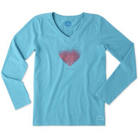 Life is Good Women's Tiny Hearts Crusher Long-Sleeve T-Shirt