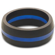 Qalo Men's Thin Blue Line Ring
