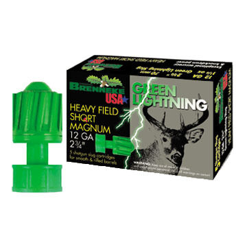 "Brenneke USA Green Lightning Heavy Field Short Magnum 12 GA 2-3/4"" 1-1/4 oz. Slug Ammo (5)"