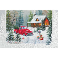 Pumpernickel Press Christmas At The Cabin Deluxe Boxed Greeting Cards