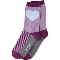 Life is Good Women's Heart Crew Sock