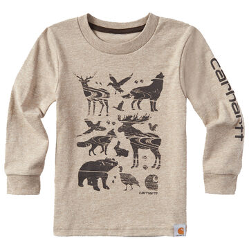 Carhartt Boys Woodgrain Animals Long-Sleeve T-Shirt