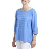 Habitat Women's Tuck Pleat Boatneck 3/4-Sleeve Shirt