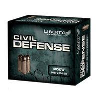 Liberty Civil Defense 40 Smith & Wesson 60 Grain Lead-Free HP Handgun Ammo (20)