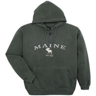 Austins Men's Maine Moose Hooded Sweatshirt