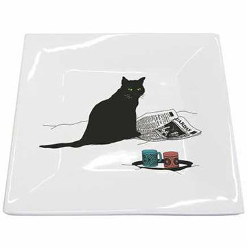 Paperproducts Design Black Cat Journal Plate