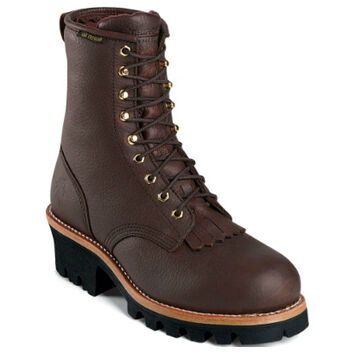 """Chippewa Men's 8"""" Plain Toe Waterproof Oiled Leather - 400g. Insulated Work Boot"""