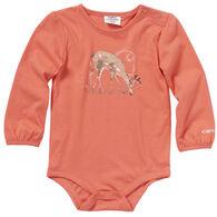 Carhartt Infant Girl's Watercolor Deer Long-Sleeve Bodyshirt