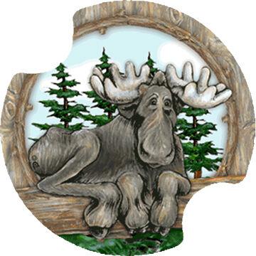 Thirstystone Big Sky Moose Carster Coaster Set, 2-Piece