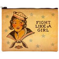 Blue Q Women's Fight Like A Girl Zipper Pouch