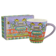 Lang Color My World Believe Artisan Cafe Ceramic Mug