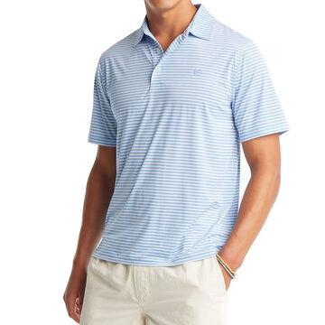 Southern Tide Mens Bimini Striped Brrr Performance Polo Short-Sleeve Shirt