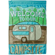 Carson Home Accents Flagtrends Welcome To Our Campsite Double Applique Garden Flag