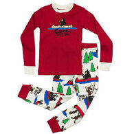 Lazy One Boys' Canoe Tuck Me In Pajama Set