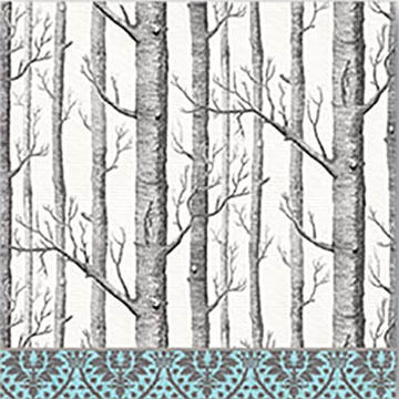 Michel Design Works Silver Trees Cocktail Napkins