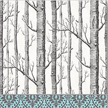 Michel Design Works Silver Trees Cocktail Napkins