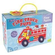 MindWare Fire Truck Pups Floor Puzzle