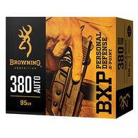 Browning BXP Personal Defense 40 S&W 180 Grain X-Point JHP Handgun Ammo (20)