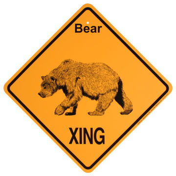 KC Creations Bear XING Sign