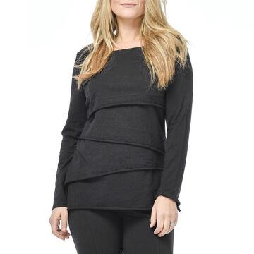 Habitat Womens Layered Crew Neck Long-Sleeve Shirt