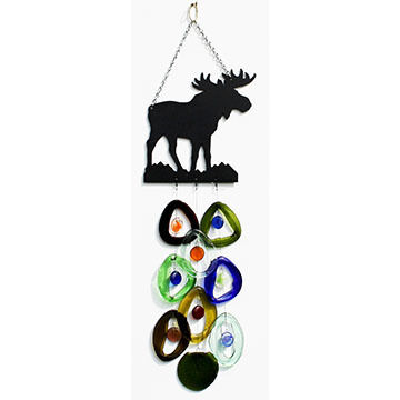 Bottle Benders Moose Metal Top Windchime