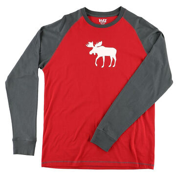 Lazy One Mens Moose Fair Isle Pajama Long-Sleeve T-Shirt