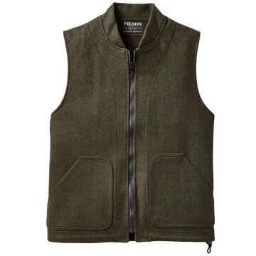 Filson Mens Mackinaw Wool Zip-In Vest Liner