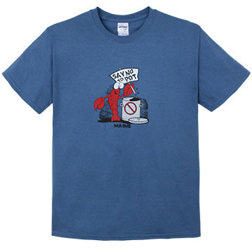 Artforms Mens Big & Tall Say No To Pot Lobster Short-Sleeve T-Shirt