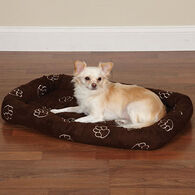 Slumber Pet Embroidered Pawprint Crate Bed