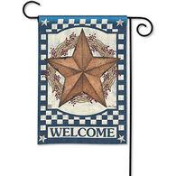BreezeArt Blue Barn Star Garden Flag