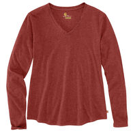 Carhartt Women's Relaxed Fit Mid-Weight V-Neck Long-Sleeve Shirt