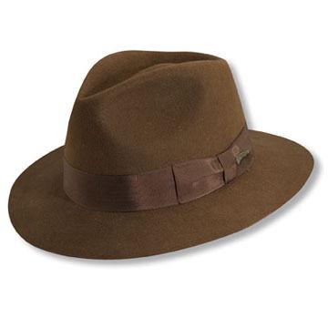 Dorfman Pacific Men's Indiana Jones Pinch Front Fedora